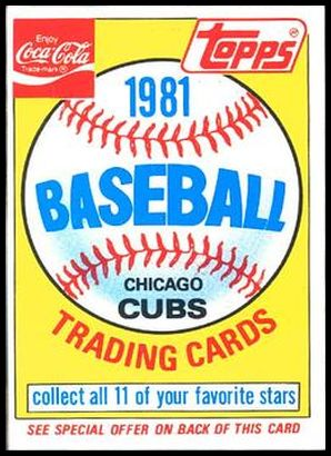 Cubs Ad Card