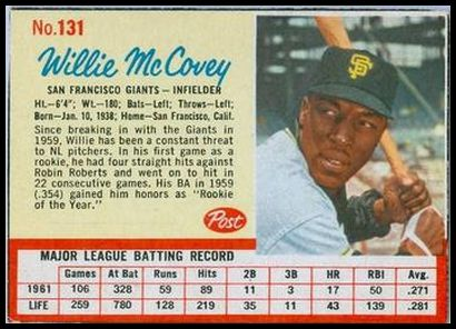 131 Willie Mccovey