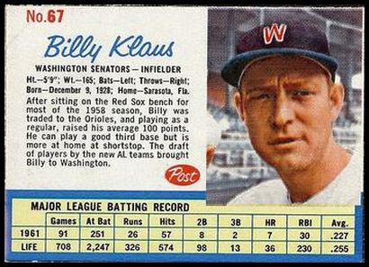 67 Billy Klaus