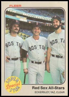 629 Red Sox All-Stars (Dennis Eckersley, Carl Yastrzemski, Mark Clear)
