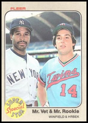 633 Mr. Vet & Mr. Rookie (Dave Winfield Kent Hrbek)