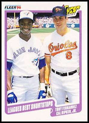 634 League's Best Shortstops (Tony Fernandez Cal Ripken Jr.)