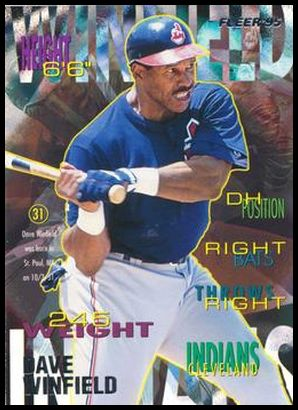 1995 Fleer Revco Cleveland Indians 18 Dave Winfield