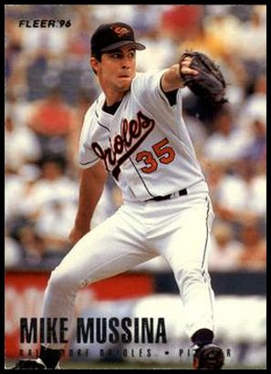 1996 Fleer Baltimore Orioles 11 Mike Mussina
