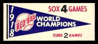 61F Pennant Decals 1918 Red Sox