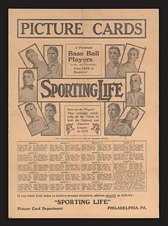 1910 Sporting Life Adv Poster