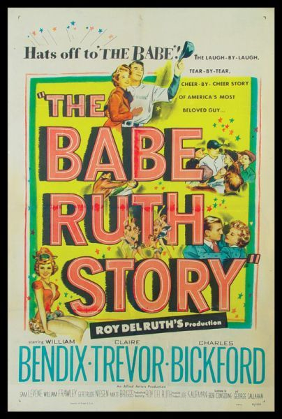 1948 Babe Ruth Story Movie Poster
