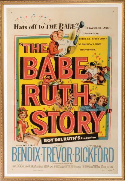 1948 Movie Poster Babe Ruth Story
