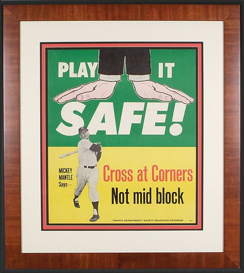 1962 Mickey Mantle Traffic Safety Awareness