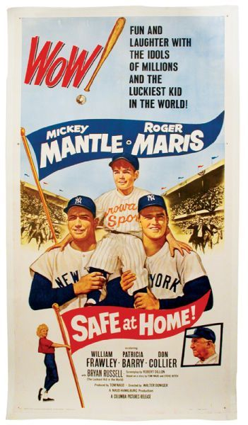 1962 Safe at Home Movie Maris Mantle 2