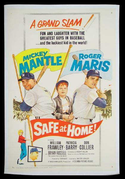 1962 Safe at Home Movie Maris Mantle