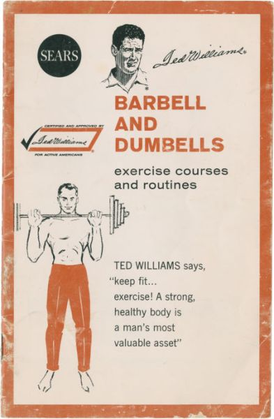 1963 Sears Barbell and Dumbells Ted Williams
