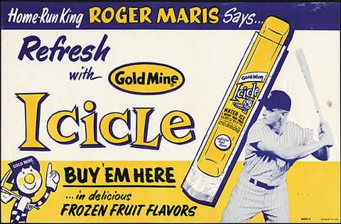 Icicle Water Ice Roger Maris
