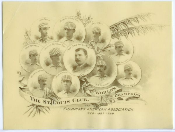 1888 Celinoid St Louis Browns Champions