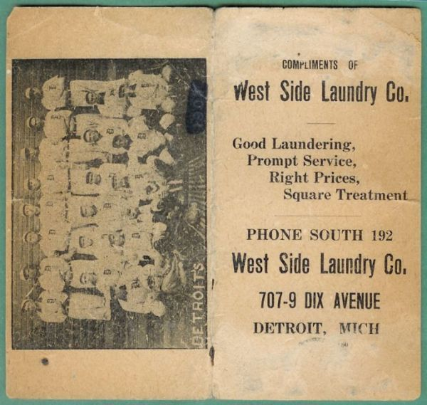 1908 West Side Laundry Tigers Schedule