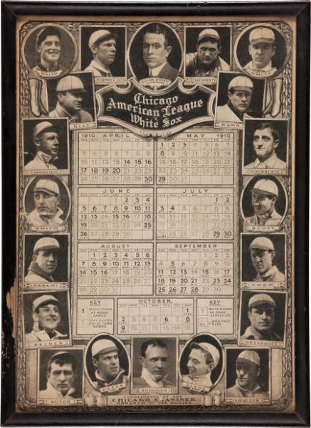 1910 Chicago White Sox Calendar Supplement