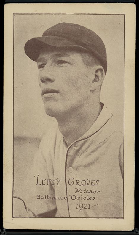 1921 Tip Top Baltimore Orioles Lefty Groves