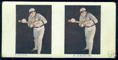 1925 Baseball Stereoview A Sacrifice Hit