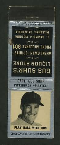 1930 Matchbook Gus Suhr Liquor Store