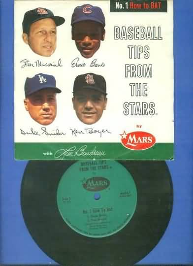 1962 Mars Records Musial Banks Snider Boyer