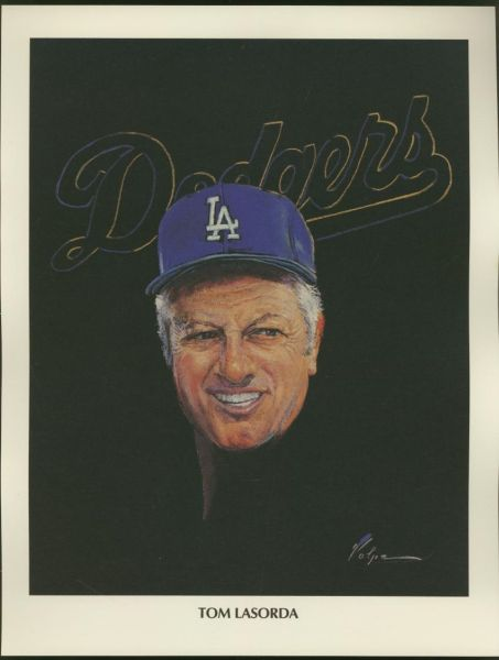 1962 Union Oil Portraits Lasorda