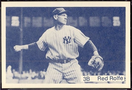 1975 TCMA All Time NY Yankees Rolfe