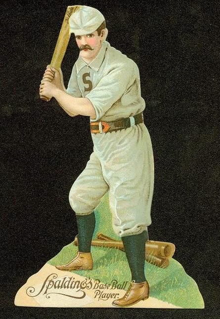 H-Unc Spalding Die-Cut Baseball Player