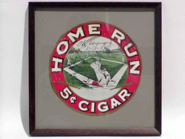 Home Run Cigar Label