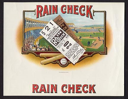 Rain Check Tobacco Label