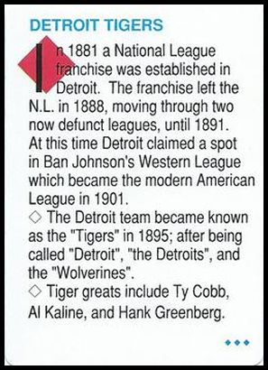 NNO2 Detroit Tigers team history