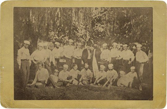 1866 Washington Nationals Brooklyn Excelsiors Cabinet