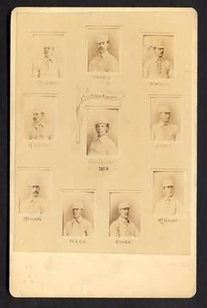 1879 Providence Grays Cabinet