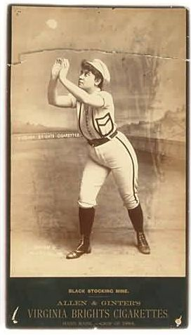 1886 Black Stocking Nine Cabinet Fielding Fly Ball