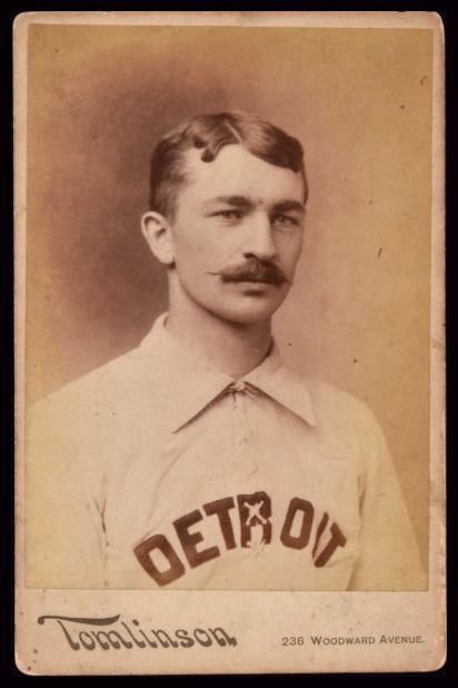 1886 Detroit Wolverines Tomlinson Cabinet Charles Hall