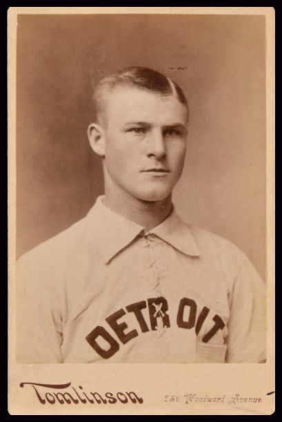 1886 Detroit Wolverines Tomlinson Cabinet Larry Twitchell