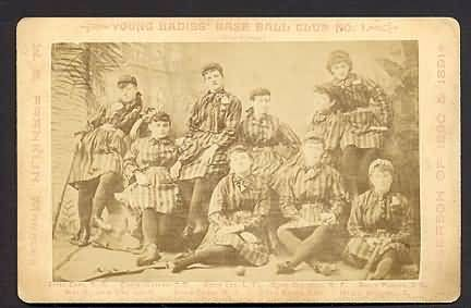 1890 Young Ladies Base Ball Club Cabinet