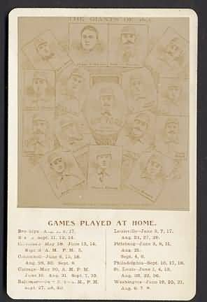 1895 New York Giants Sched Cabinet