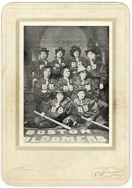 1900 Cabinet Boston Bloomers Team