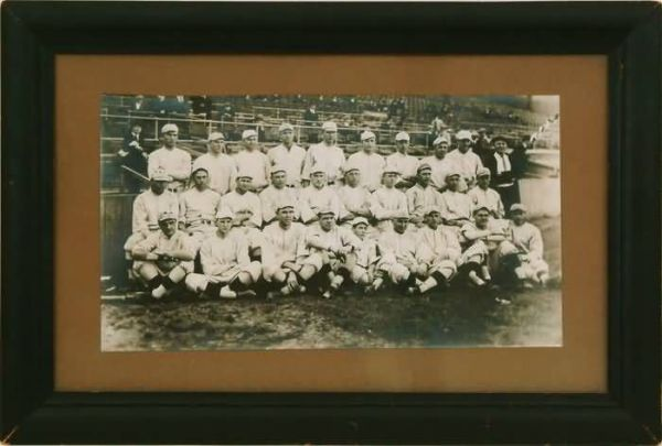 1916 Red Sox Team Photo Cabinet