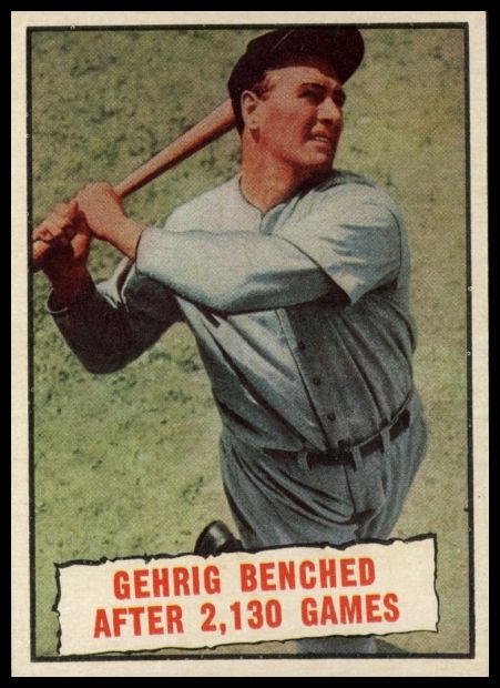 405 Gehrig Benched After 2,130 Games