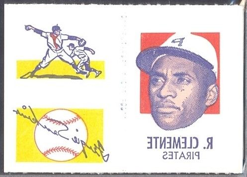 1971 Topps Tattoos Clemente Panel