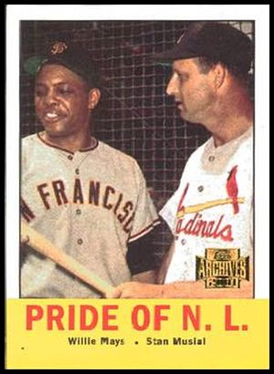 220 Pride of the NL (Willie Mays Stan Musial) 63