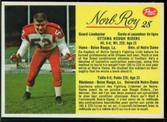 28 Norb Roy