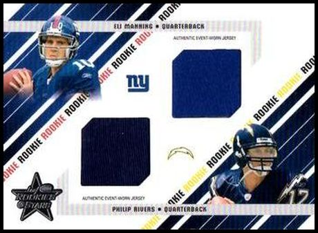 284 Eli Manning Philips Rivers MEM, SN500