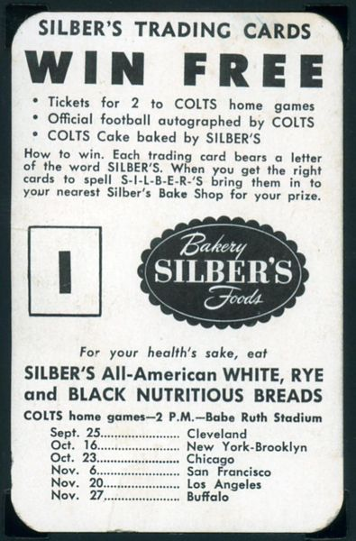 1949 Silber's Bakery Colts