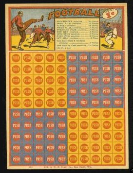 1920 1 Cent Lottery Football Card