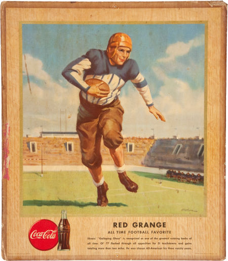 1947 Coke Broadside AP Red Grange