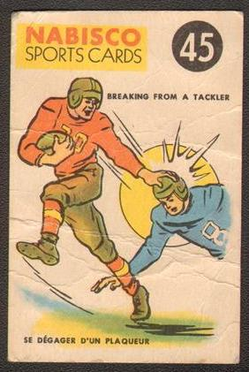 1955-56 Nabisco Sports Cards 45 Breaking from a Tackler