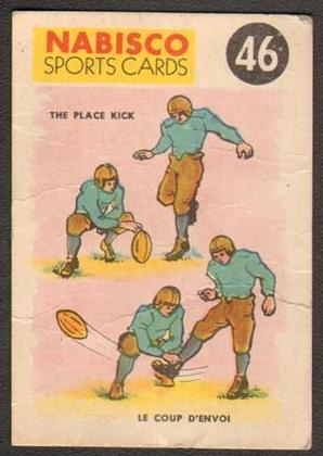 1955-56 Nabisco Sports Cards 46 The Place Kick