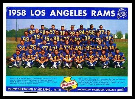 1958 Falstaff Beer Los Angeles Rams